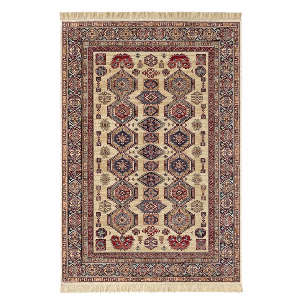 MINT RUGS Teppich »Gala«, rechteckig, 9 mm Höhe, Orient Optik, weiche Viskose mit Fransen, Wohnzimmer