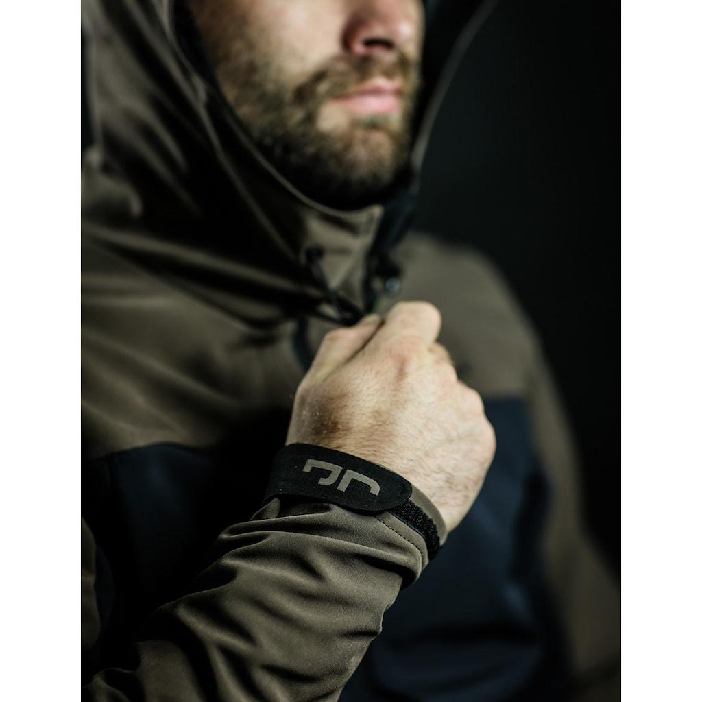 Jeff Green Softshelljacke »Calais«, Kapuze mit reflektierenden Details, Skipasstasche