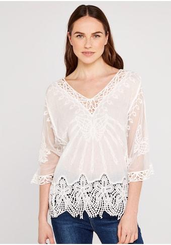 Apricot Shirtbluse »Crochet Embroidered V Neck Top«, mit Spitze kaufen