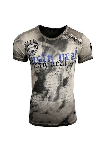 Rusty Neal T-Shirt mit Knopfapplikation kaufen