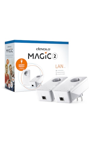DEVOLO LAN-Router »(2400Mbit, G.hn, Powerline, 2x GbitLAN, Heimnetz)«, Magic 2 LAN Starter Kit kaufen