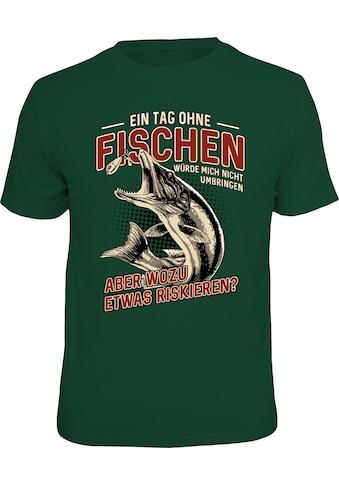 Rahmenlos T-Shirt mit lustigem Print kaufen