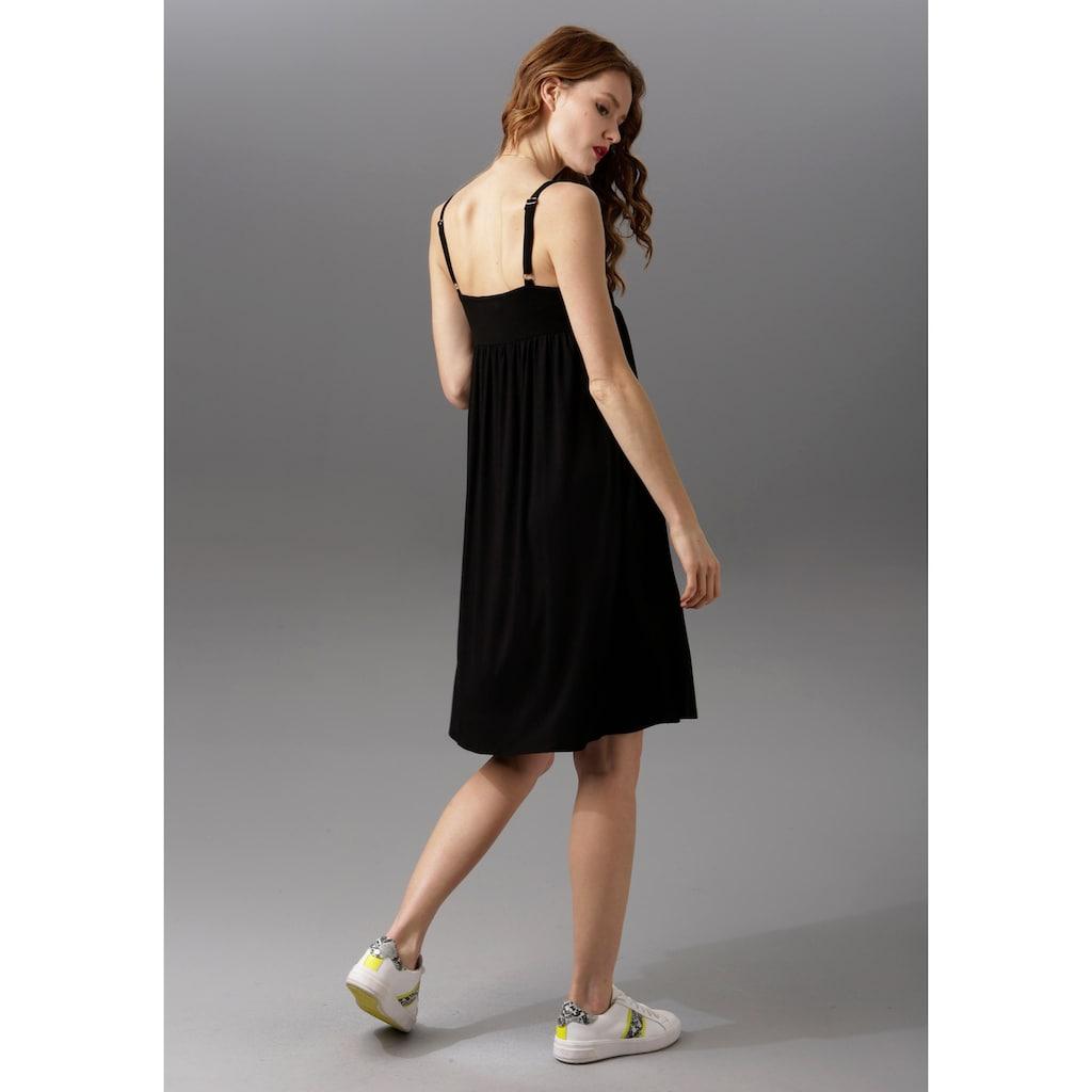 Aniston CASUAL Sommerkleid, mit Spitze verziert