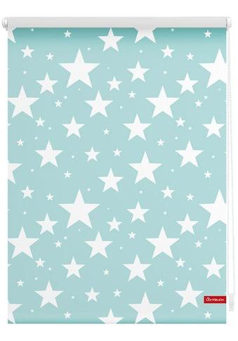 LICHTBLICK Seitenzugrollo »Klemmfix Digital Sterne«, verdunkelnd, energiesparend, ohne Bohren, freihängend, bedruckt kaufen