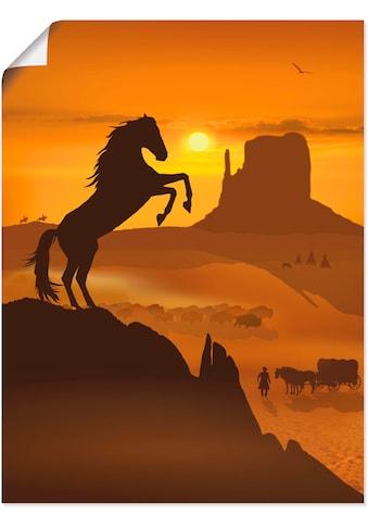 Artland Wandbild »Freiheit für den schwarzen Mustang«, Haustiere, (1 St.), in vielen... kaufen