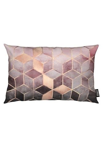 Dekokissen, »Pink Grey Gradient Cubes«, Juniqe kaufen