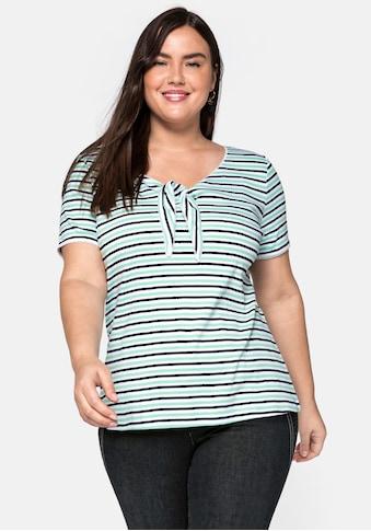 sheego by Joe Browns T-Shirt, aus figurnaher gerippter Qualität kaufen