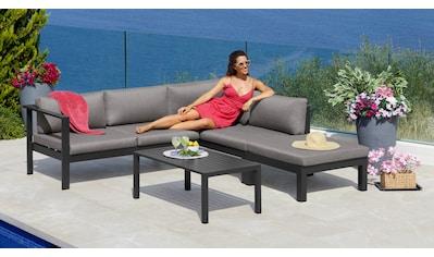 KONIFERA Loungeset »Dubai«, (14 tlg.), Ecklounge, Tisch 1x59 cm, Aluminium kaufen