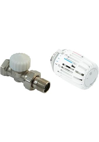 CORNAT Heizkörperthermostat »Durchgang«, Thermostatventil und Kopf kaufen