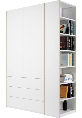 Müller SMALL LIVING Kleiderschrank »Modular Plus Variante 1«, inklusive 3 geräumigen Schubladen, Anbauregal wahlweise links oder rechts montierbar kaufen
