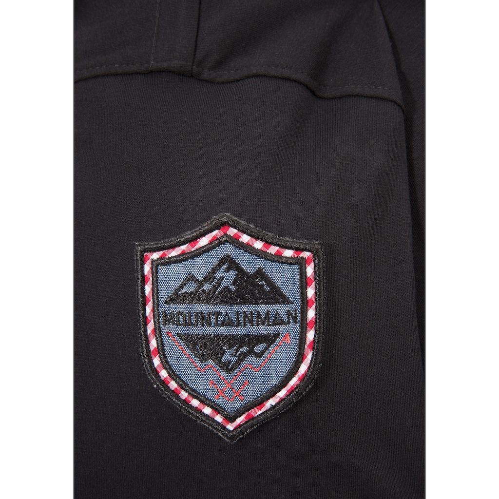 Andreas Gabalier Kollektion Trachtenshirt, Herren mit Wappen-Applikation