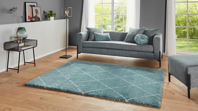 Hochflor-Teppich in Grün