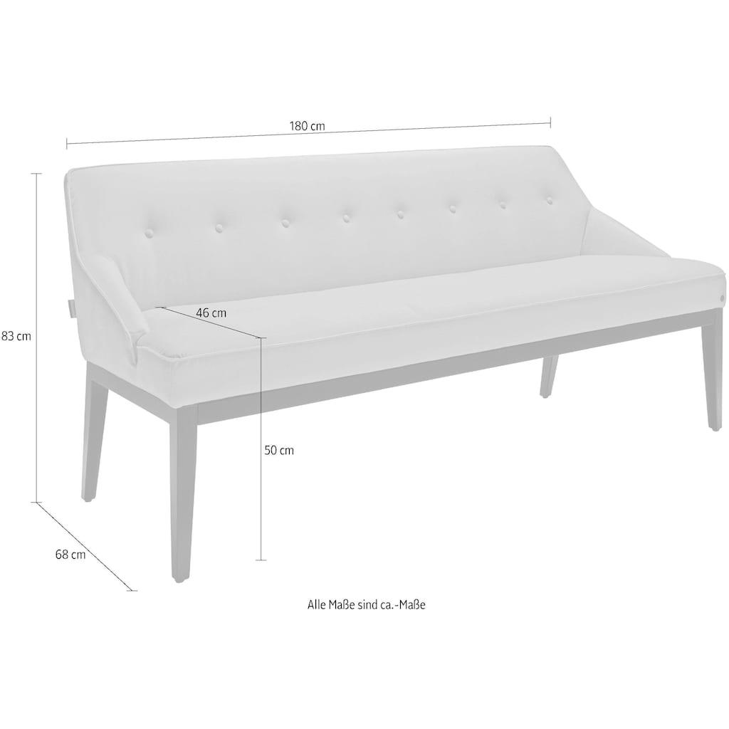 TOM TAILOR Sitzbank »COZY«, mit schwarzen Holzfüßen, Breite 180 cm