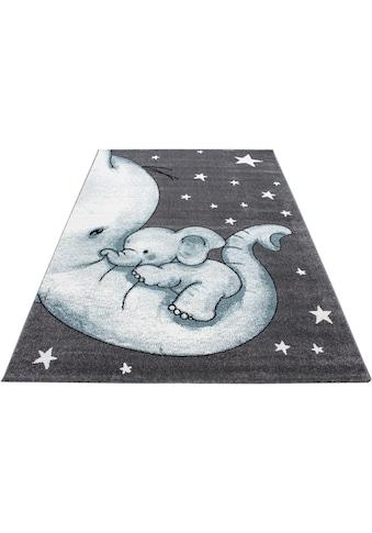 Ayyildiz Kinderteppich »Kids 560«, rechteckig, 12 mm Höhe, Elefanten Kinder Design, Kurzflor kaufen