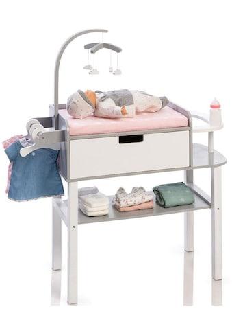 """MUSTERKIND® Puppenwickeltisch """"Barlia, grau/rosa/weiß"""" kaufen"""