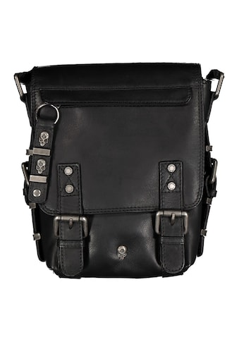 JACK'S INN 54 Umhängetasche »Toronto«, aus Leder mit coolen Totenkopf Applikationen kaufen