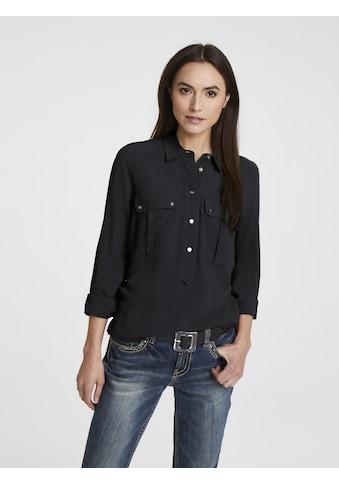 Bluse mit halber Knopfleiste kaufen