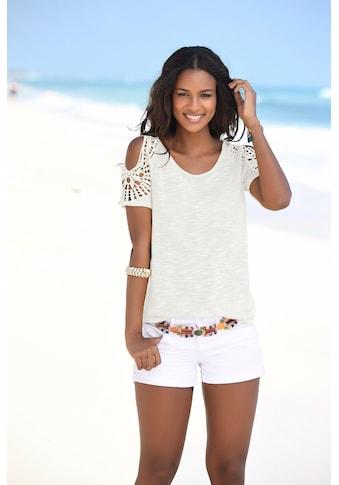 Vivance T-Shirt, mit modischer Häkelspitze kaufen