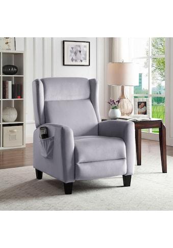 ATLANTIC home collection TV-Sessel »Timo«, klassischer Ohrensessel mit moderner Relaxfunktion und praktischer Seitentasche kaufen