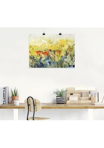 Artland Wandbild »Schwingende Blumen II«, Blumenwiese, (1 St.), in vielen Größen &... kaufen