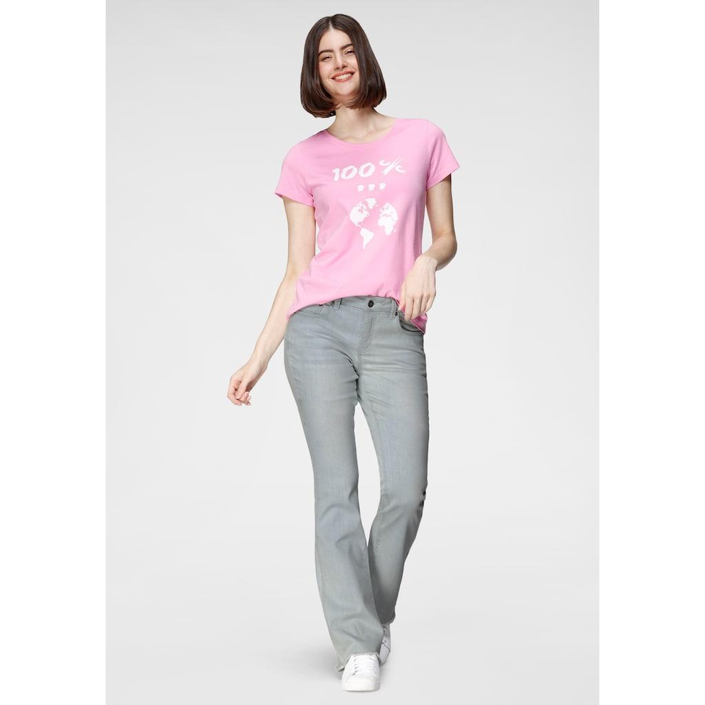 H.I.S Regular-fit-Jeans »Bootcut mit ausgefranstem Saum«, Nachhaltige, wassersparende Produktion durch OZON WASH