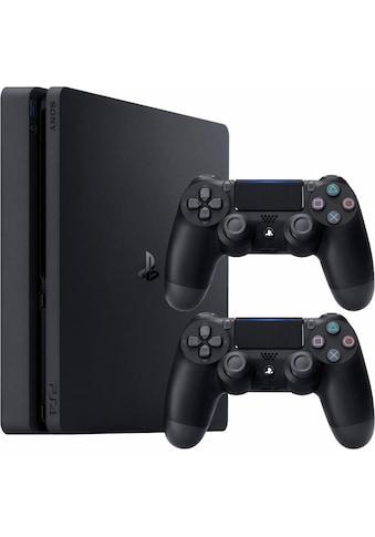 PlayStation 4 Slim (Bundle, inkl. 2 PlayStation 4 Wireless DualShock Controller) kaufen