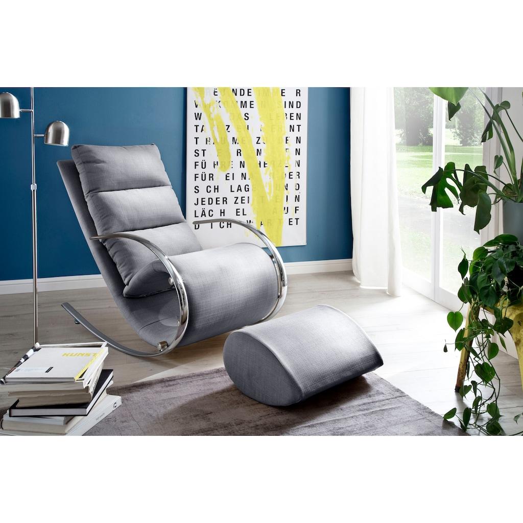 MCA furniture Relaxsessel »York«, Relaxsessel mit Hocker, belastbar bis 100 kg