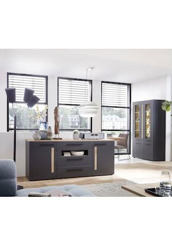 Innostyle Sideboard »Loft Two«, Breite 180 cm, 2 Holztüren, 3 Schubkästen, 1 offenes Fach kaufen