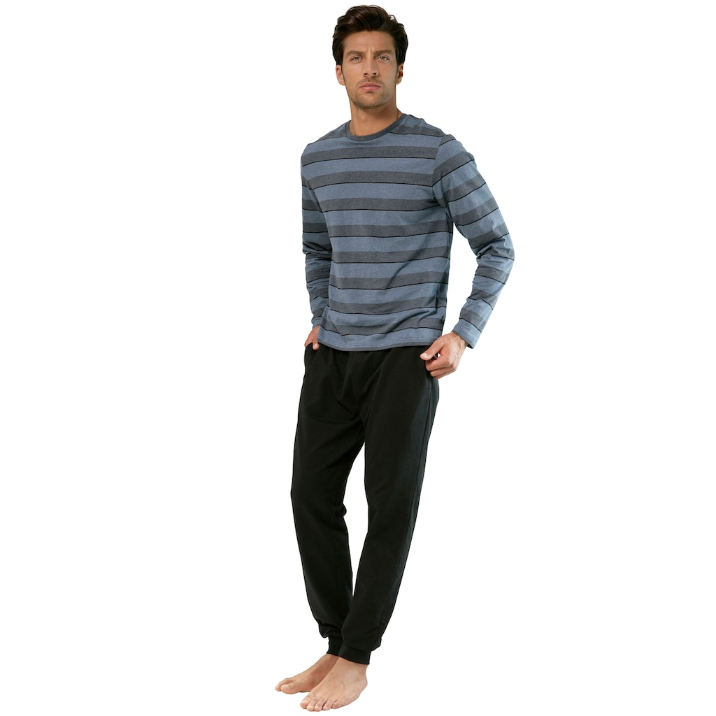H.I.S Pyjama, mit Streifenshirt