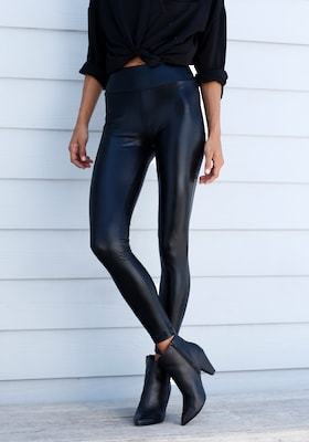schwarze Damen-Leggings