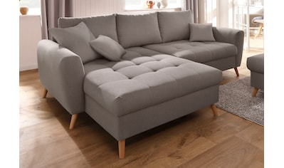 Home affaire Ecksofa »Blackburn Luxus«, mit besonders hochwertiger Polsterung für bis zu 140 kg pro Sitzfläche kaufen
