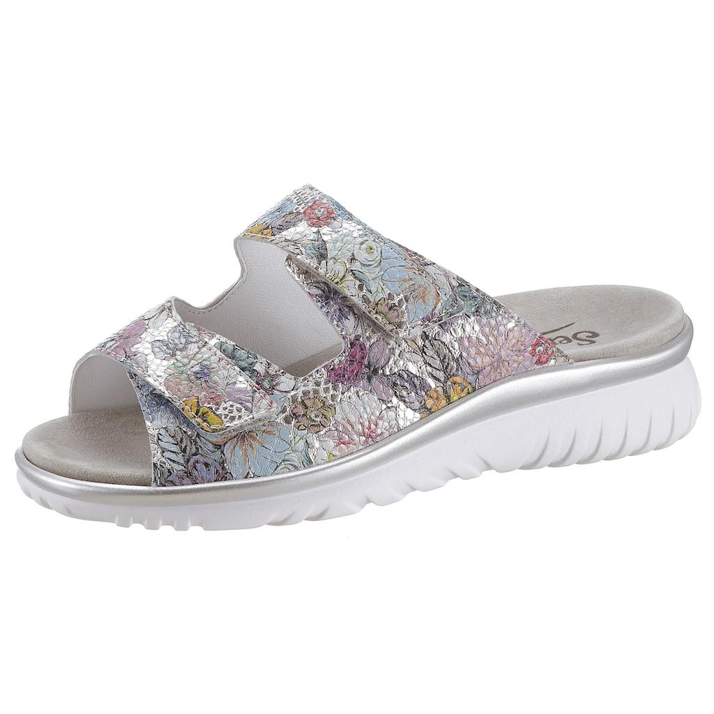 Semler Pantolette »LAURA«, mit sommerlichen Blüten