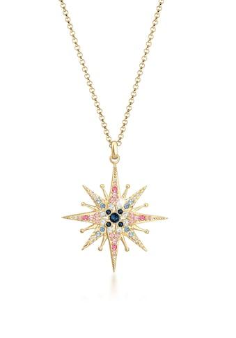 Elli Collierkettchen »Erbskette Stern Kristalle 925er Silber« kaufen