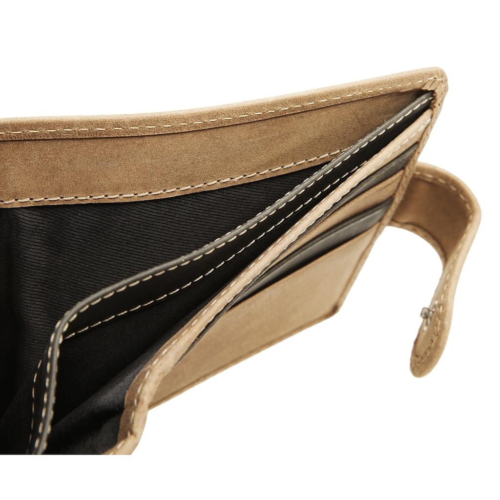 BODENSCHATZ Brieftasche »BICOLOUR«, 2fach klappbar