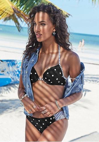 s.Oliver Push-Up-Bikini-Top »Audrey«, mit Punkten und Streifen kaufen