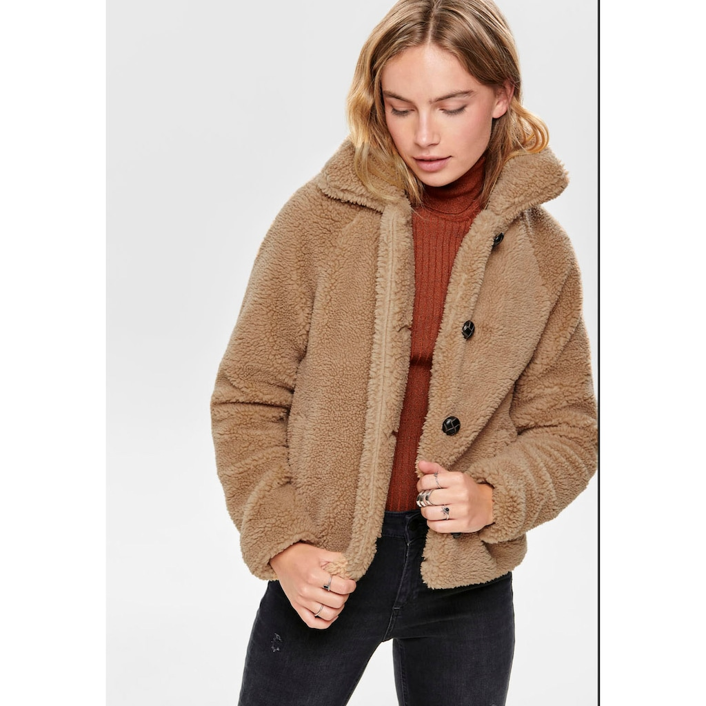 Only Fellimitatjacke »ONLEMILY«, aus Teddyplüsch
