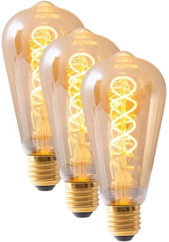 näve LED-Leuchtmittel »Filament«, E27, 3 St., Warmweiß, dimmbar, Set - 3 Stück, amberfarben kaufen
