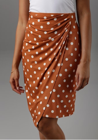 Aniston SELECTED Wickelrock, mit eingelegten Falten kaufen