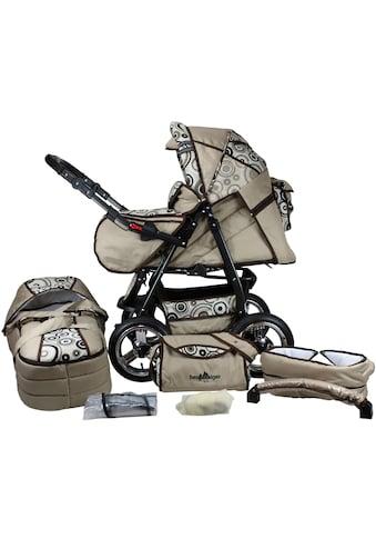 bergsteiger Kombi-Kinderwagen »Rio, beige circles, 3in1«, mit Lufträdern; Made in... kaufen