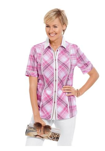 Casual Looks  Bluse mit dekorativer Hohlsaumstickerei kaufen