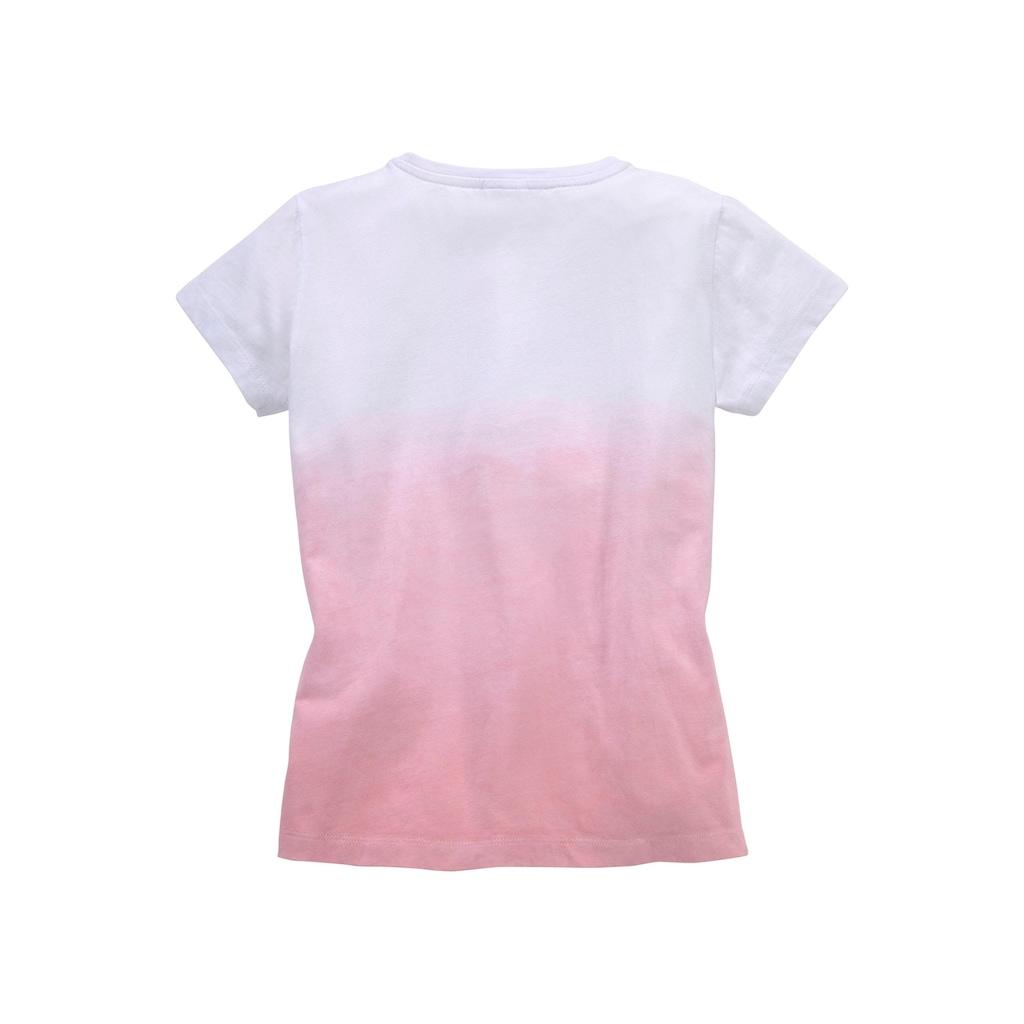 KangaROOS T-Shirt, Im Farbverlauf mit Wendepailletten