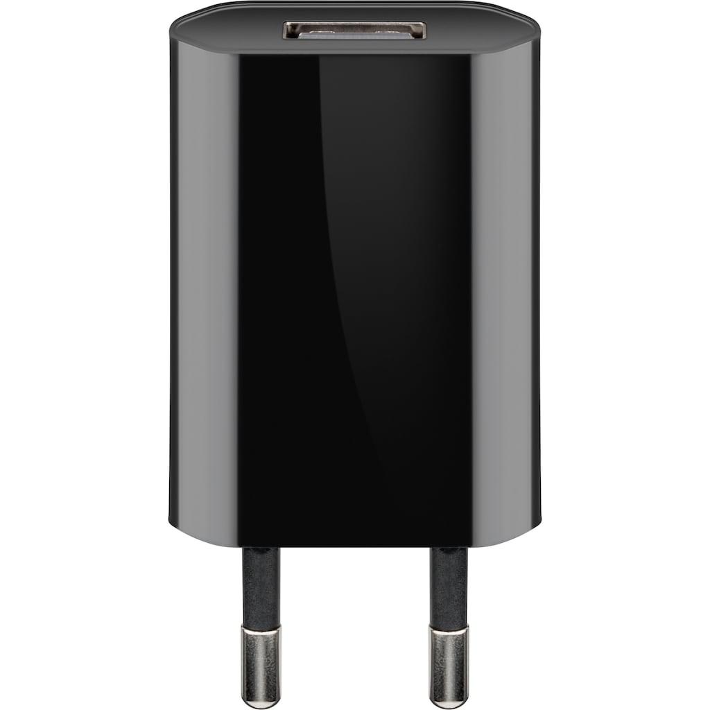 Goobay USB-Ladegerät »USB Charger, Netzteil 1 A (5W), Schwarz«, Kompaktes USB Ladegerät mit 1x USB Anschluss