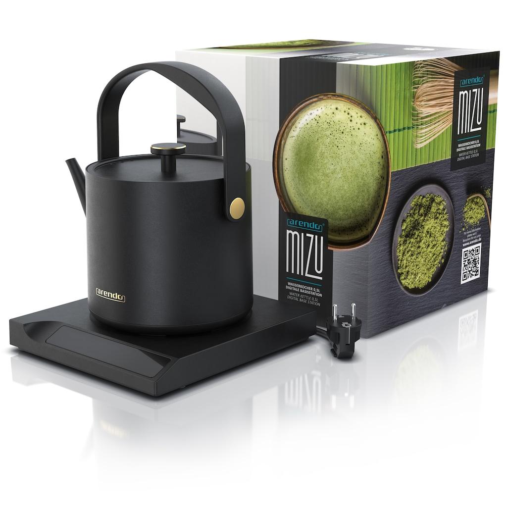Arendo Wasserkocher »MIZU 0,5L - 1000 Watt - 40° bis 100°«, 0.5 l, 1000 W