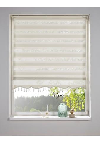 DELAVITA Doppelrollo »BLIND«, Lichtschutz, Sichtschutz, mit Bohren, freihängend, mit Perlenabschluss kaufen