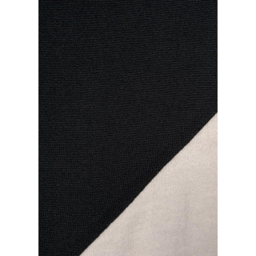 LASCANA Maxikleid, in Colorblock-Optik
