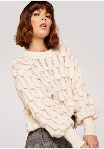 Apricot Strickpullover »Scallop Knit Oversized Jumper«, mit semitransparenten Details kaufen