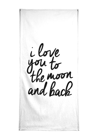 """Handtuch """"I Love You to the Moon and Back"""", Juniqe kaufen"""