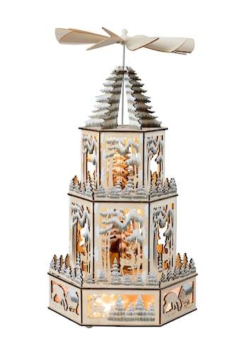 HGD Holz-Glas-Design XL-Weihnachtspyramide für Batterie- und Netzbetrieb kaufen