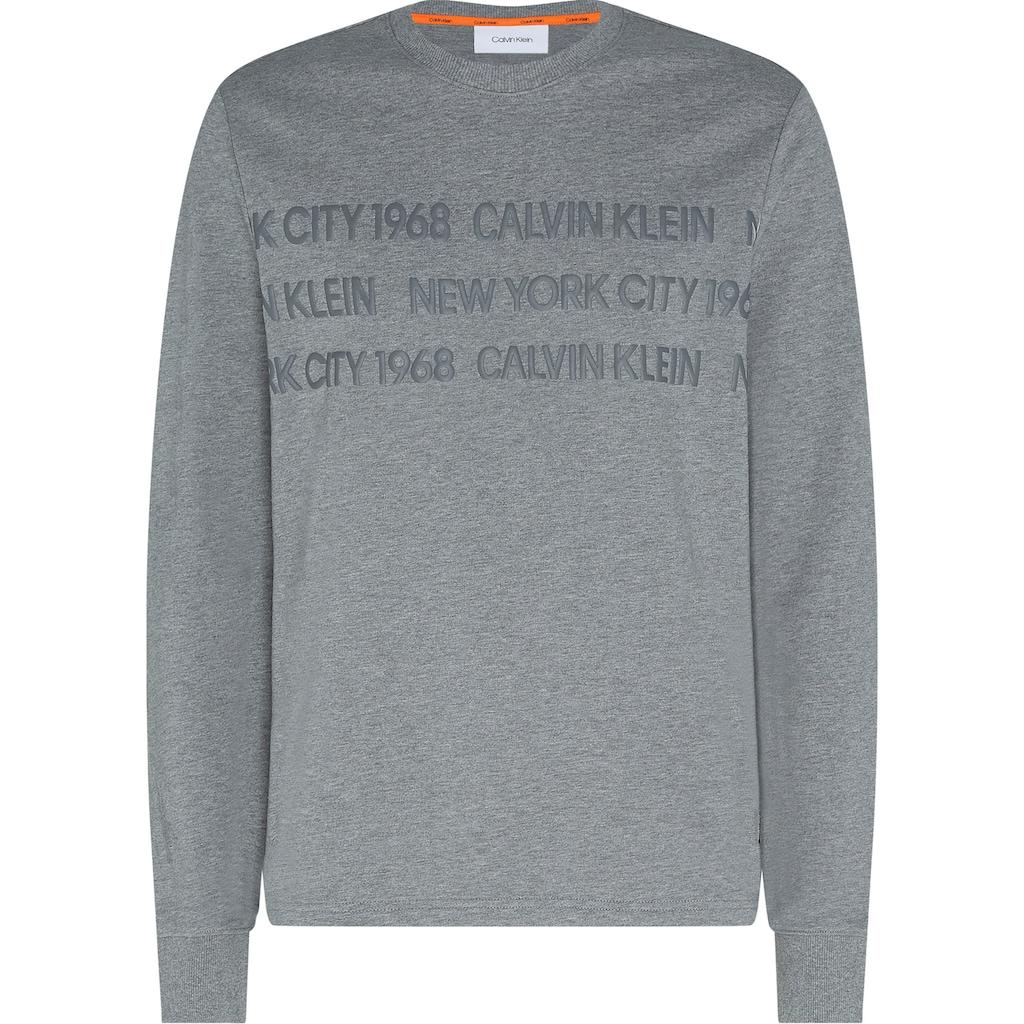 Calvin Klein Sweatshirt »LONG SLEEVE LIGHT SWEATSHIRT«