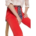 TOM TAILOR 5-Pocket-Hose, (Set, 2 tlg., mit Bindeband), Alexa Slim Fit mit gemustertem Bindegürtel